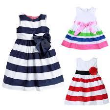 2017 <b>summer style girls dress</b> baby girl dresses sleeveless striped 1 ...