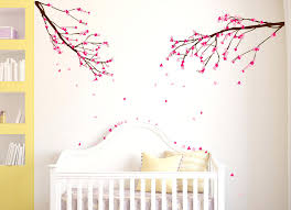 wall decals trees and flowers large wall nursery tree branch baby decal  cherry blossom flowers cherry . wall decals ...