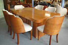 table 6 chairs sale. enquire about epstein dining table and 6 cloud back chairs in fiddle maple sale e