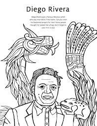 Quer ficar por dentro das novidades da artista e ainda receber promoções especiais? Diego Rivera Coloring Pages Frida Kahlo Coloring Pages Studio T Blog