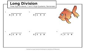Kindergarten Printables. Printable Long Division Worksheets ...