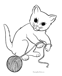 Small Picture Kitten Coloring Page 008