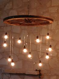 random length wagon wheel chandelier large