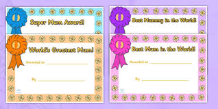 Mothers Day Certificates Mothers Day Card Mothers Day Cards