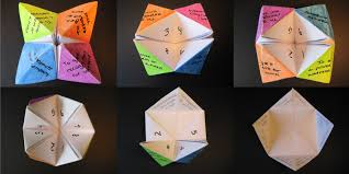Project Ideas Using A4 Paper Or A Square Piece Of Paper  SnapguideFortune Teller Ideas