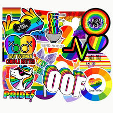 <b>100 PCS Fashion</b> Graffiti Rainbow Stickers for Luggage Laptop ...