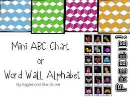 Free Mini Alphabet Chart Or Word Wall Alphabet