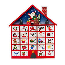 kurt s adler 16 in wooden advent calendar c6300 the home depot
