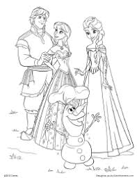 Small Picture Frozen Pictures For Kids To Color Color Bros