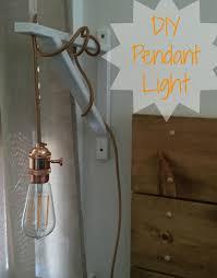 diy rose gold pendant light on white shelf bracket the color cord