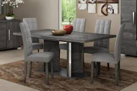 italy furniture brands. Modern Venicia Collection, Extending Dining Table In Grey Birch Look  Veneer/Optional Chairs Italy Furniture Brands R