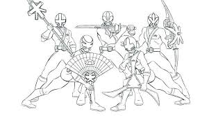 Power Ranger Samurai Coloring Page 10 All Power Rangers Coloring