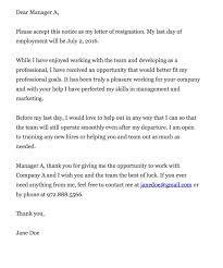 Resignation Letter Format Executive Secretary Position