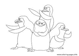 Madagascar Penguins Colouring Pages Coloring Pages Penguins Cute