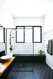 dark blue bathroom tiles. Perfect Tiles Dark Floor Bathroom Black Tile White Subway Walls Blue  Tiles To E