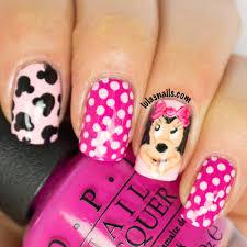 nail designs minnie mouse
