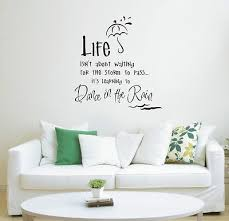 Wall Sticker Quotes Delectable Dance In The Rain Wall Art Sticker Quote Wall Stickers 48 48 Sizes