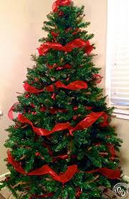 christmas trees decorated with red ribbon. Simple Ribbon How About Keeping It Simple And Using Just Ribbons A Few Bunches Of  Cranberries For Decorating Your Christmas Tree Itu0027s Perfect Idea People Who  In Trees Decorated With Red Ribbon R