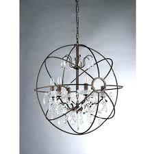 chandeliers crystal sphere chandelier re modern warehouse of 6 light antique bronze white