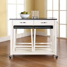 White Kitchen Cart With Granite Top Kitchen Island On Wheels Canada Picture Gallery For Easy With