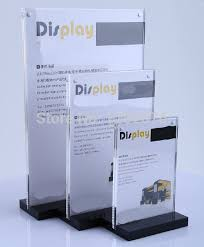 Desktop Acrylic Display Stands A100 Acrylic Magnetic Desktop Display Stand Acrylic Tabel Sign 2