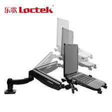 loctek d5f desktop full motion gas spring dual use 10 15 6 inch laptop mount holder