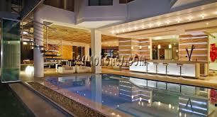 indoor pool bar. Private Indoor Swimming Pool Design With Kitchen Bar Also Livingroom White Sofa I
