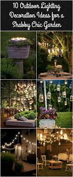 outdoor backyard lighting ideas. 10 outdoor lighting ideas for a shabby chic garden 6 is lovely backyard