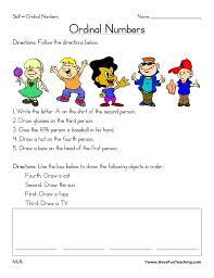 Ordinal Numbers Worksheet Weather Worksheets Kindergarten Pdf First ...