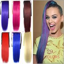 <b>Alileader Synthetic</b> Ponytail Long Straight <b>Hair</b> 24 <b>Clip</b> Ponytail <b>Hair</b> ...
