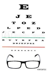 Eye Chart With Reading Glasses Buy This Stock Photo And