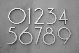 modern mailbox numbers.  Numbers Modern House Number Aluminum Contemporary Font Eight  Inside Mailbox Numbers
