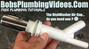 Dishwasher Air Gap Do You Need One Youtube