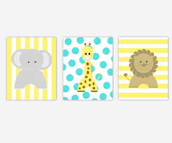 baby nursery canvas wall art yellow turquoise gray grey elephant  on little girl canvas wall art with magnificent little girl canvas wall art mold wall art collections