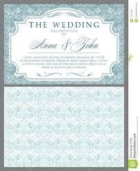 Light Blue Wedding Invitations Wedding Invitations In Baroque Style Stock Vector