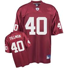 Tillman Reebok Cardinals Throwback Premier Nfl Pat Home Men's Arizona 40 Jersey Red