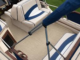 infinity luxury woven vinyl installed in a powerboat