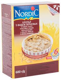 Купить <b>хлопья Nordic 5</b> видов зерновых 600 г, цены в Москве на ...