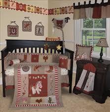 image of cowboys baby boy nursery bedding set