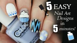 5 Basic Nail Art Designs Five In Five Easy Blue Nail Art Designs Nailed It Nz