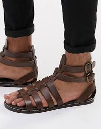 asos gladiator sandals in leather