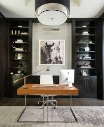 ceiling lights for home office. Dallas Built In Bookcases With Desk Mount Ceiling Lights Home Office Contemporary And Textured Walls For O