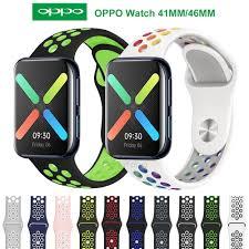 Dây đeo silicone mềm nhiều màu sắc cho đồng hồ thông minh Oppo Watch  41mm/46mm