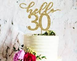 30th Birthday Topper Etsy