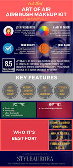 art of air airbrush makeup kit infographics