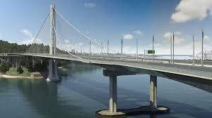 torsion bridge. self anchored suspension bridge torsion h