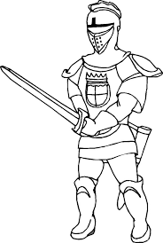 Middle Ages Knight Coloring Page middle ages knight coloring page color luna on middle ages coloring pages