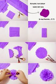 crepe paper flower step by step