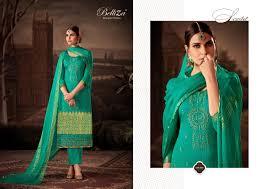 Belliza Designer Studio Online Belliza Designer Studio Maisha Pure Silk Jacquard Printed