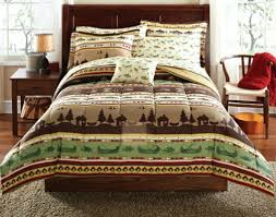 image of cabin style bedding lodge